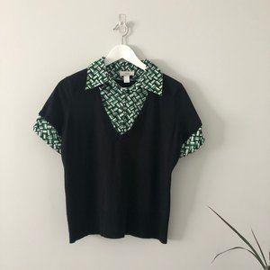 💸💸Ann Taylor LOFT Short Sleeve Black Sweater